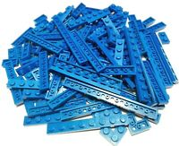 LEGO® City Basic 120 Stück Platten Plättchen Plates 1x2 - 1x10 in blau blue