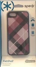 SPECK FABSHELL IPHONE 5 5s Case Cover hard Shell MEGAPLAID MULBERRY/BLACK bumper