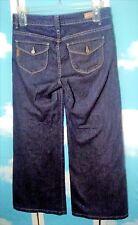 PAIGE Women's Jeans Sz 31 Boho Wide Leg Flap Pockets Dark Wash USA Hillhurst