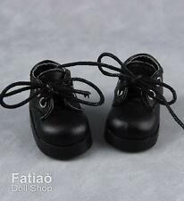 Fatiao - New Dollfie Yo SD 1/6 BJD Lace up Doll Shoes - Black