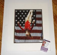 Olympic Gold Gymnast Shawn Johnson Signed Matted 11x14 JSA CERT FREE SHIPPING