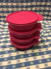 TUPPERWARE New MICROWAVE CEREAL BOWLS w/Seals! 2CUP/500ML PINK