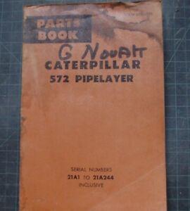 CAT Caterpillar 572 Pipelayer Parts Manual Book Catalog spare index list 21A OEM