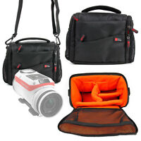 Camera Carry Case / Bag in Black & Orange for NEW TomTom Bandit Action Camera