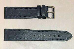 Pulsera Correa de Reloj Piel Legítima Cuero 20 mm Azul Marino   Watchband 240