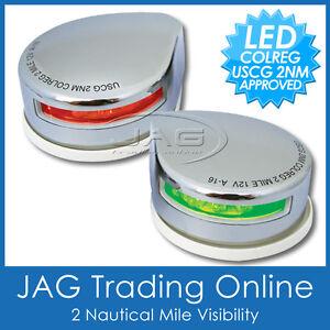12V STAINLESS STEEL LED TOP/DECK/BOW NAVIGATION LIGHTS PORT/STARBOARD BOAT LAMPS