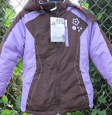 Girls Jacket 4 in 1 Purple Peace Sign Hooded w/ Fleece Liner Rothschild 8 /10