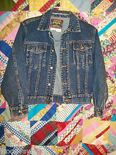 Pepe Denim Jacket Vintage Size M Rocker Dark Gypsy Boho