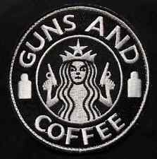STARBUCKS GUNS & COFFEE US ARMY MILITARY SWAT USA VELCRO® BRAND FASTENER PATCH