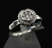 9K white gold 0.33ct diamond ring (I-J colour, Si1-2 clarity)