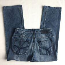 Men's CALVIN KLEIN JEANS Size 33-32 Straight blue  Medium washed