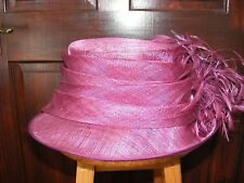 WEDDING/ASCOT/MOTHER OF BRIDE HAT - CERISE. Made in England by COTERIE
