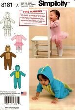 Simplicity Pattern 8181 Babies Knit and Fleece Rompers XXS-L NEW