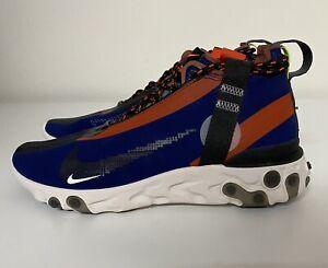 Nike React Runner Mid WR ISPA Blue Void Mens Sz 6.5/ Women's Sz 8 AT3143-400 NEW