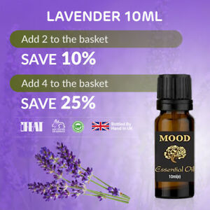 10ml Lavender Pure Essential Oil - 100% Pure, Certified & Natural - Aromatherapy