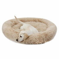 Original Cat and Dog Bed Fur Donut Cuddler Round Donut Dog Beds Indoor Cuddler