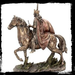 KING ARTHUR ON HORSE.Cold Cast Bronze Sculpture,Highly Detailed.