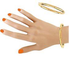 "10K Yellow Gold Shiny Bangle Bracelet 5mm 7"""