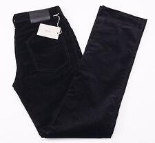 NWT $650 BRIONI 'Stelvio' Black Cotton Corduroy Five-Pocket Pants 33 Jeans