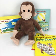 Curious George Plush Toy with Books and Photo Album Set