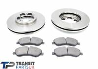 FORD TRANSIT MK8 CUSTOM FRONT BRAKE PADS DISCS 2.2 FWD 2012 ON 250 TO 310 SERIES