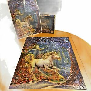 Ceaco Fantasy Unicorn By Myles Pinkney 750 Piece Jigsaw Puzzle with Bonus Poster