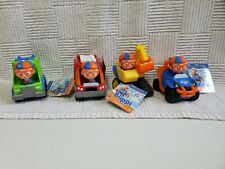 Blippi Lot of 4 vehicles Excavator Mobile Fire Garbage Truck New With Tags HTF