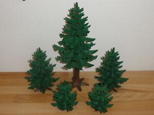 Playmobil Tannenbäume; 5 Stück!!!