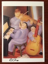 FERNANDO BOTERO HAND SIGNED OFFSET LITHOGRAPH OF THREE MUSICIANS 1983