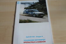 116527) VW Golf II GTI 16V Gr. A Motorsport Katalog / Prospekt 10/1990