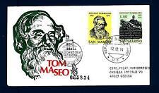 SAN MARINO - 1974 - Centenario della morte di Niccolò Tommaseo su FDC Venetia