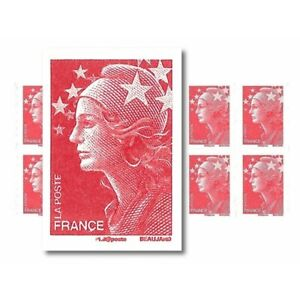 CARNET MARIANNE ROUGE DE BEAUJARD 10 TIMBRES