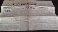 Diario Nacionalista ACCIÓN Francesa 23 Septembre 1934 N º 266 ABE