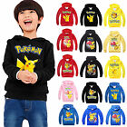 Pokemon Go Kids Boys Girls Hoodie Sweatshirt Pikachu Costume T-shirt Jumper Tops