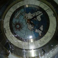 NWT Seiko Globe Clock World Time Desk Mantle Gold Tone Japan Quartz RARE 1994