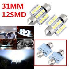 2 PCS Festoon Dome Interior LED Light bulbs DE3175 3021 PURE White 31MM 12SMD