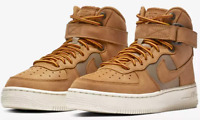 Nike Air Force 1 High Premium PRM Wheat Khaki Bone GS AR0733-700 $120 Youth 4.5y