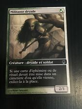 MTG MAGIC CARTE FRENCH LAUNCH DRYAD MILITANT (MILITANTE DRYADE) NM