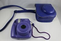 Fujifilm Instax Mini 8 Instant Film Camera Purple Grape with Case FREE SHIPPING