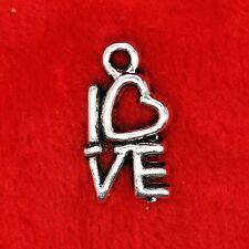 20 x Tibetan Silver I Love You Heart Charm Pendant Jewelry Making Craft
