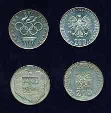 """POLAND  1976  200  ZLOTYCH  """"OLYMPICS""""   &  1974  200 ZLOTYCH """"XXX-LAT-PRL"""""""