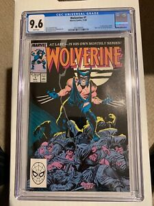 Wolverine #1 Marvel Comics 11/88 CGC 9.6 WP 1st Wolverine as Patch NO RESERVE!