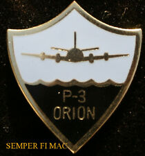 P-3 ORION LOGO SHIELD LAPEL HAT PIN UP US NAVY LOCKHEED PLATED ASW NAS NAF USS