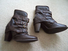 River Island Brown Heeled Ankle Boots Size 4