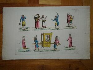 GRAVURE XVIII° CARICATURE COSTUME FEMME MODE HOMME CURIOSA MARIE ANTOINETTE