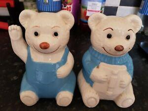 Ceramic White Teddy Bear Bookends