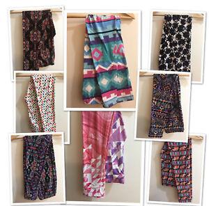 Women One Size Multi Aztec Printed Soft High Waist Stretch Leggings