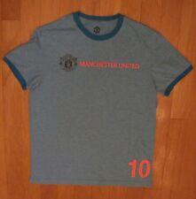 MANCHESTER UNITED FOOTBALL CLUB ROONEY 10 MEN'S  BLUE SHORT SLEEVE SHIRT SIZE M