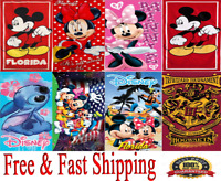 Disney Towel Mickey Minnie Goofy Donald Pluto Stitch Harry Potter Towel Original