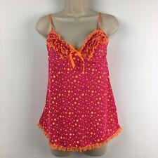 Victoria's Secret Sexy Little Things Pink Orange Polka Dot Cami Size 34C